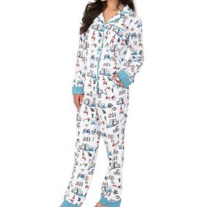 NWT Munki Munki Flannel Pajama & Matching Sock Set